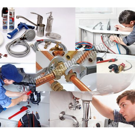 Installation plomberie, sanitaires, électroménager, évier, douche, lavabo.